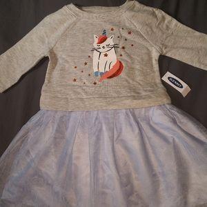 Nwt tutu sparkle cat dress old navy sz 2T blue